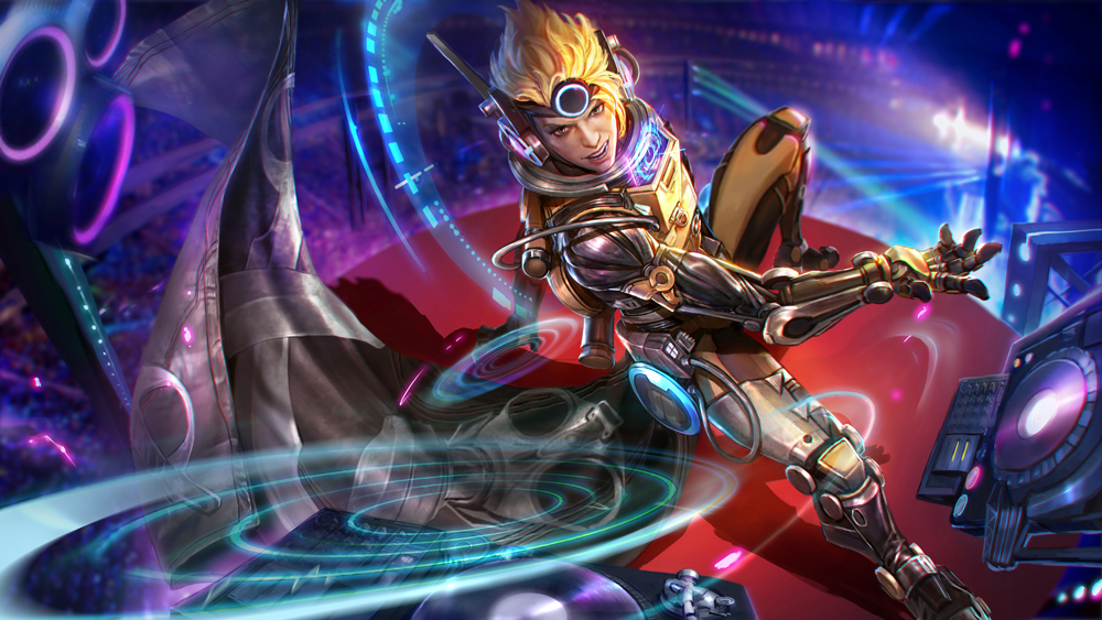 Hd wallpaper vainglory - Cloud Raider Vox Tier Iii Skin Reveal Vainglory